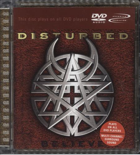 Disturbed Believe DVD-Audio disc German DURADBE747021