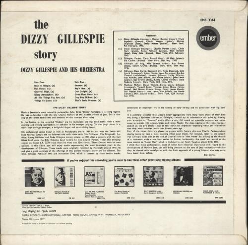 Dizzy Gillespie The Dizzy Gillespie Story vinyl LP album (LP record) UK DB5LPTH718655
