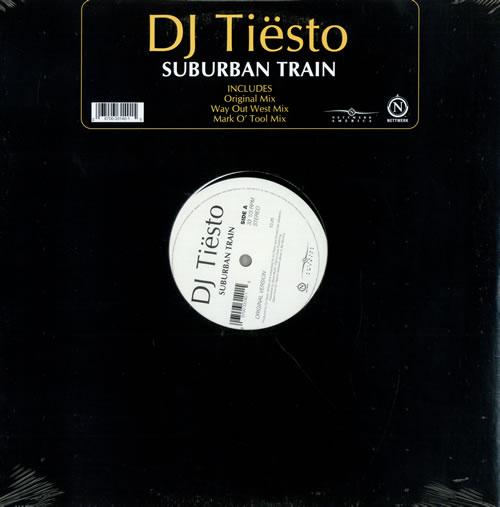 "DJ Tiesto Suburban Train 12"" vinyl single (12 inch record / Maxi-single) US DH-12SU480506"