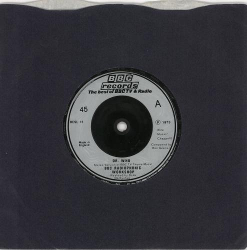 "Doctor Who Dr. Who - silver label 7"" vinyl single (7 inch record) UK DRW07DR728941"