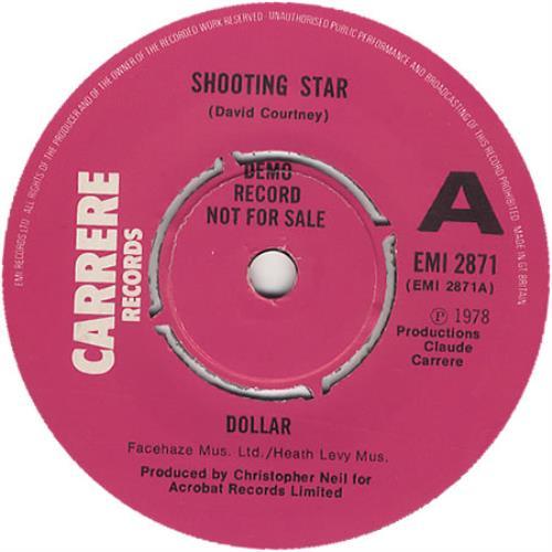 """Dollar Shooting Star 7"""" vinyl single (7 inch record) UK DLL07SH195293"""