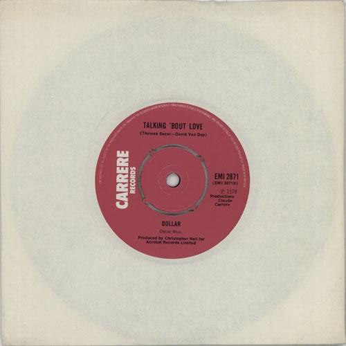 "Dollar Talking 'bout Love 7"" vinyl single (7 inch record) UK DLL07TA614630"