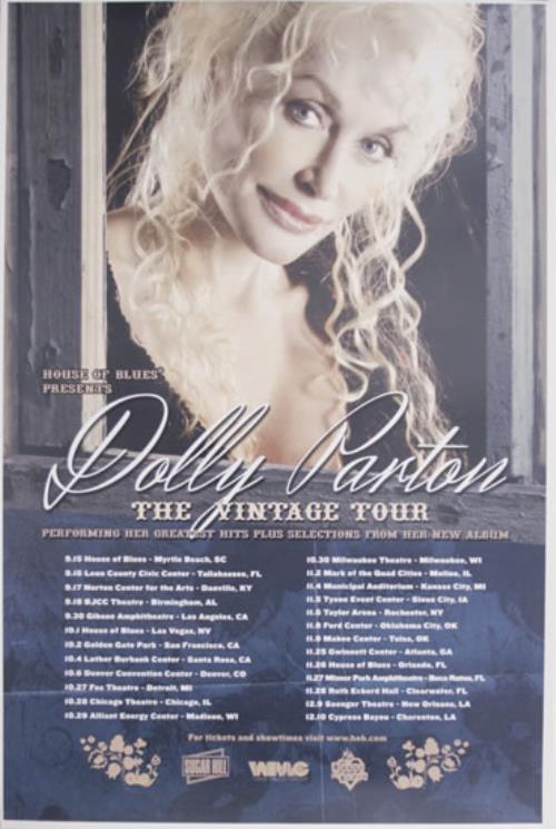 Dolly Parton The Vintage Tour Poster poster US PARPOTH556207