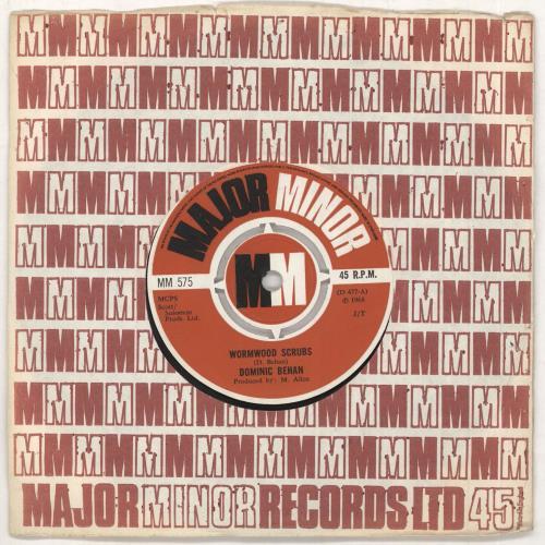 "Dominic Behan Wormwood Scrubs 7"" vinyl single (7 inch record) UK EXM07WO749158"