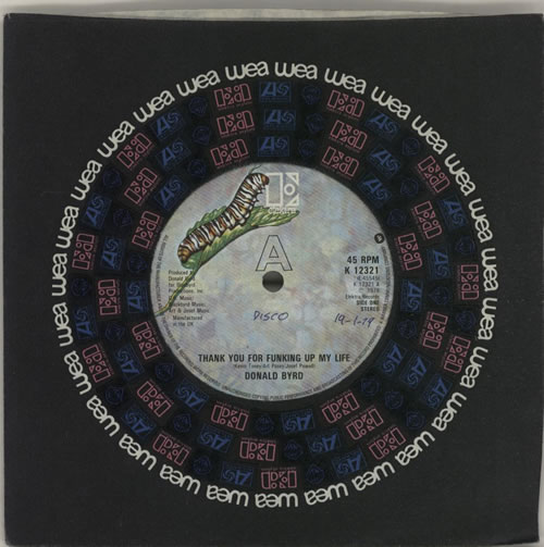 """Donald Byrd Thank You For Funking Up My Life - advance 7"""" vinyl single (7 inch record) UK DOB07TH637159"""
