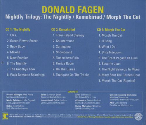 Donald Fagen Nightfly Trilogy The Nightfly Kamakiriad