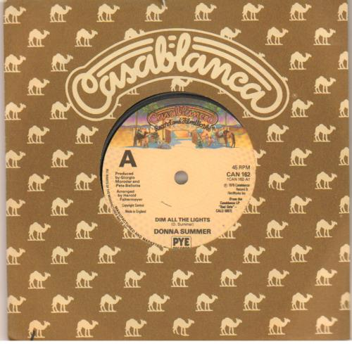 """Donna Summer Dim All The Lights - Solid 7"""" vinyl single (7 inch record) UK SUM07DI643594"""