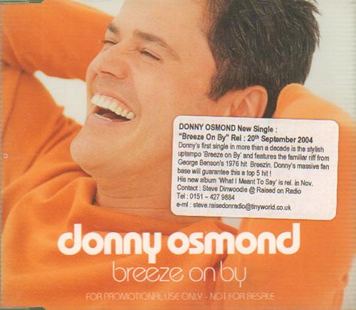 """Donny Osmond Breeze On By CD single (CD5 / 5"""") UK DOSC5BR304838"""