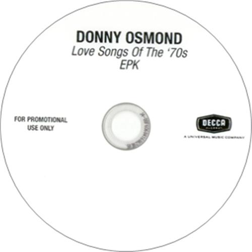 Donny Osmond Love Songs Of The 70's 2-disc CD/DVD set US DOS2DLO418085