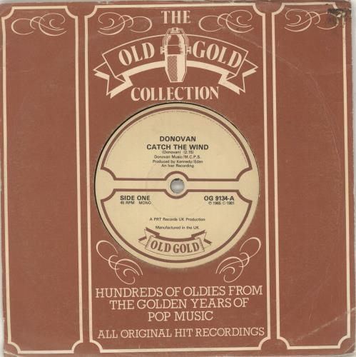 "Donovan Catch The Wind 7"" vinyl single (7 inch record) UK DOV07CA713591"