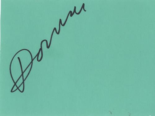 Donovan Page From An Autograph Book memorabilia UK DOVMMPA603442