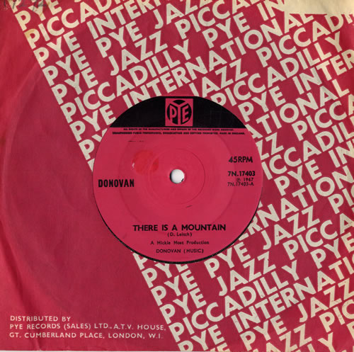 """Donovan There Is A Mountain - 1st 7"""" vinyl single (7 inch record) UK DOV07TH558823"""