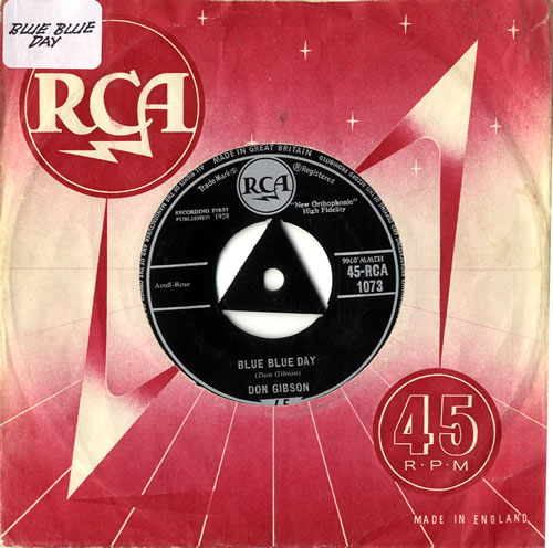 "Don Gibson Blue Blue Day 7"" vinyl single (7 inch record) UK DGI07BL578202"