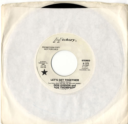 """Don Gibson Let's Get Together 7"""" vinyl single (7 inch record) US DGI07LE615305"""