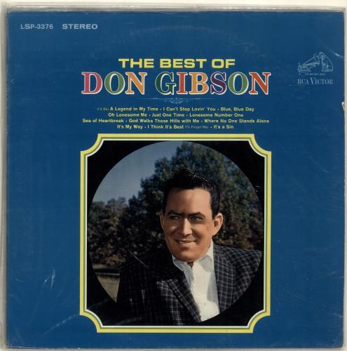Don Gibson The Best Of Don Gibson vinyl LP album (LP record) US DGILPTH699535