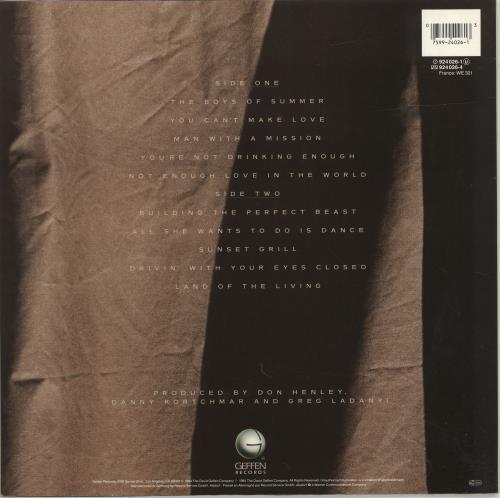 Don Henley Building The Perfect Beast vinyl LP album (LP record) German DHNLPBU692613