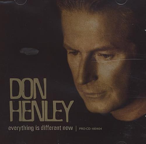 "Don Henley Everything Is Different Now CD single (CD5 / 5"") US DHNC5EV177692"