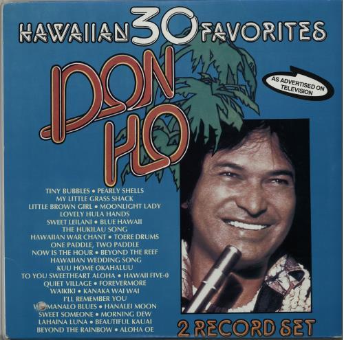 Don Ho Hawaiian 30 Favorites 2 Lp Vinyl Record Set Double Al Canadian