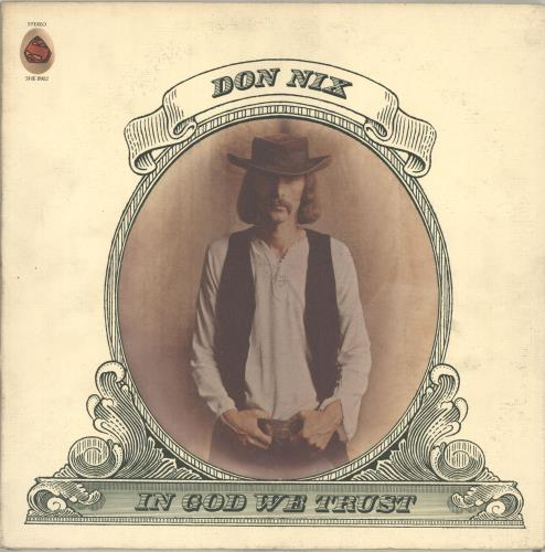 Don Nix In God We Trust vinyl LP album (LP record) US EZVLPIN703558