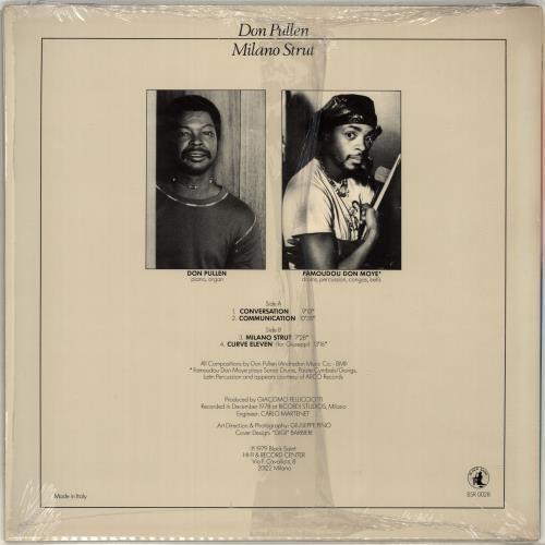 Don Pullen Milano Strut vinyl LP album (LP record) Italian DP0LPMI704656