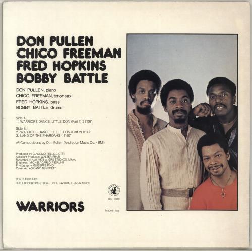Don Pullen Warriors vinyl LP album (LP record) Italian DP0LPWA704671