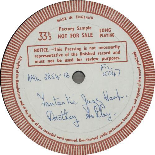 Dorothy Ashby The Fantastic Jazz Harp Of Dorothy Ashby - Test Pressing vinyl LP album (LP record) UK D~ALPTH682561