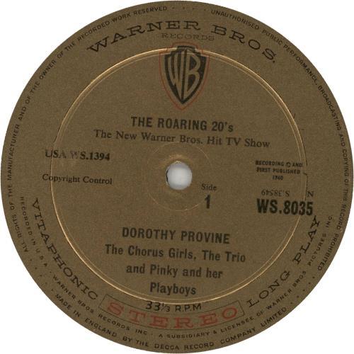 Dorothy Provine The Roaring 20's vinyl LP album (LP record) UK DYVLPTH553431