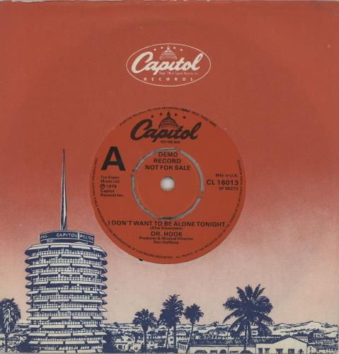 """Dr Hook I Don't Want To Be Alone Tonight - A Label 7"""" vinyl single (7 inch record) UK DHK07ID752692"""