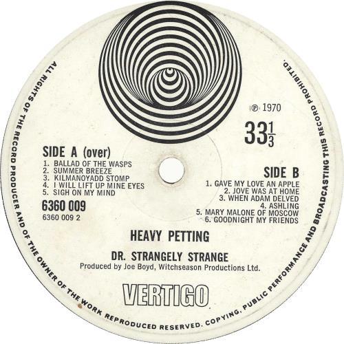 Dr Strangely Strange Heavy Petting - 1st - G vinyl LP album (LP record) UK DRSLPHE700350