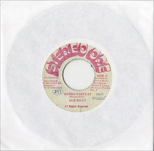 "Dub Riley Botha's Defeat 7"" vinyl single (7 inch record) Jamaican D0907BO492420"