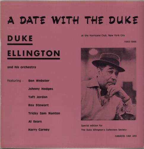 Duke Ellington A Date With The Duke vinyl LP album (LP record) US DA3LPAD670271