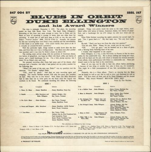 Duke Ellington Blues In Orbit - 1st vinyl LP album (LP record) UK DA3LPBL724114