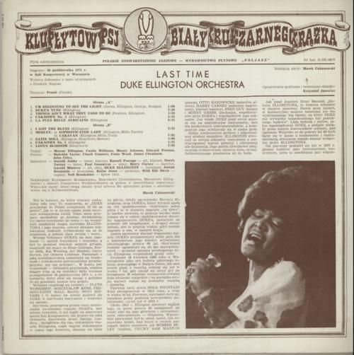 Duke Ellington Last Time vinyl LP album (LP record) Polish DA3LPLA585466