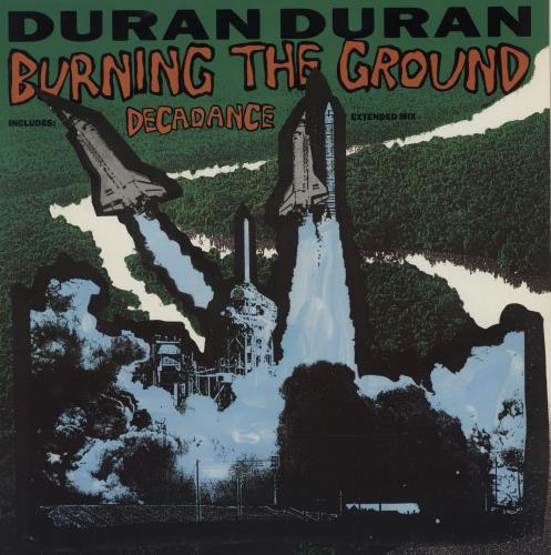 """Duran Duran Burning The Ground 12"""" vinyl single (12 inch record / Maxi-single) UK DDN12BU35535"""