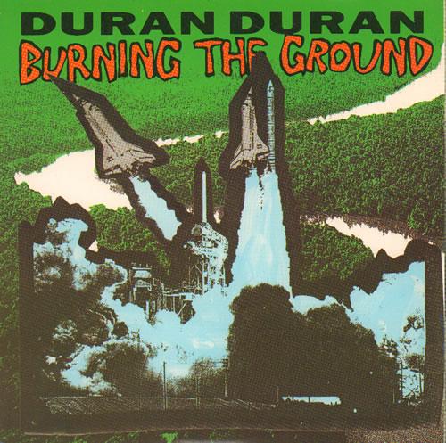 """Duran Duran Burning The Ground 7"""" vinyl single (7 inch record) UK DDN07BU640399"""