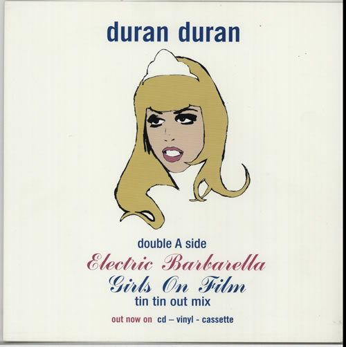 Duran Duran Electric Barbarella display UK DDNDIEL632121