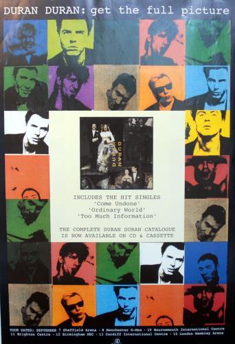 Duran Duran Get The Full Picture - The Wedding Album poster UK DDNPOGE141707