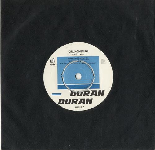 "Duran Duran Girls On Film 7"" vinyl single (7 inch record) UK DDN07GI599818"