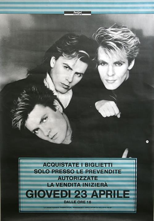 Duran Duran Italian Tour poster Italian DDNPOIT437984