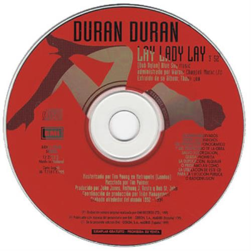 "Duran Duran Lay Lady Lay CD single (CD5 / 5"") Spanish DDNC5LA52955"