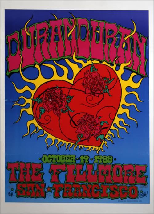 Duran Duran Live At Fillmore 1988 - Numbered & Signed artwork US DDNARLI437701