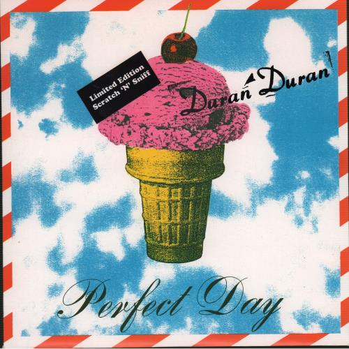 "Duran Duran Perfect Day - Scratch N Sniff 7"" vinyl single (7 inch record) UK DDN07PE41473"