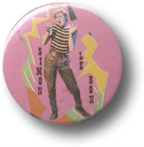 Duran Duran Simon Le Bon badge UK DDNBGSI507754
