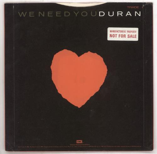 "Duran Duran Skin Trade - Factory Sample 7"" vinyl single (7 inch record) UK DDN07SK739832"