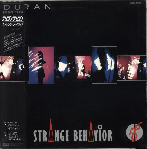 "Duran Duran Strange Behaviour - Lazer Etched 12"" vinyl single (12 inch record / Maxi-single) Japanese DDN12ST18579"