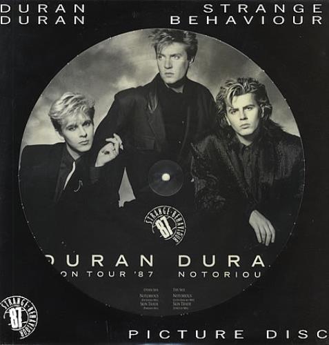 "Duran Duran Strange Behaviour Tour EP + Insert 12"" vinyl picture disc 12inch picture disc record Italian DDN2PST17637"