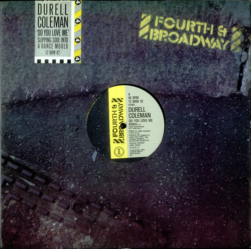 "Durell Coleman Do You Love Me - Remix 12"" vinyl single (12 inch record / Maxi-single) UK D3T12DO517158"