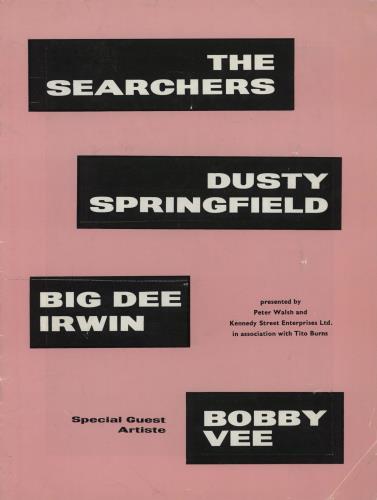 Dusty Springfield UK Tour tour programme UK DUSTRUK759816