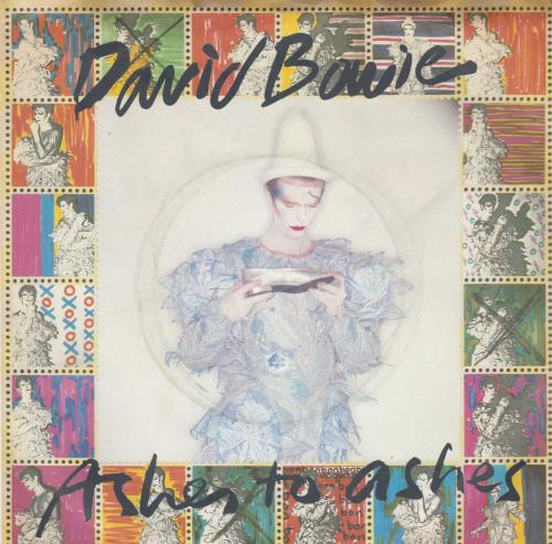 """David Bowie Ashes To Ashes + Stamps 7"""" vinyl single (7 inch record) UK BOW07AS28453"""