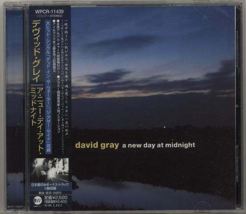David Gray A New Day At Midnight CD album (CDLP) Japanese DGRCDAN428389